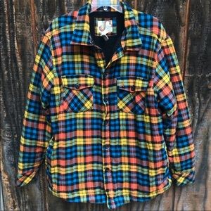 OP Plaid Heavy Shirt XL